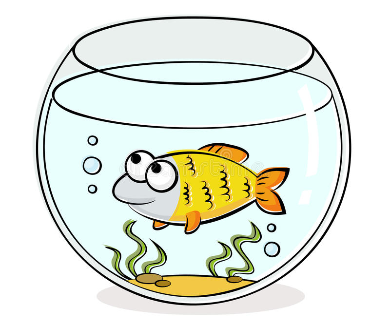 Aquarium met grappige vissen vector illustratie