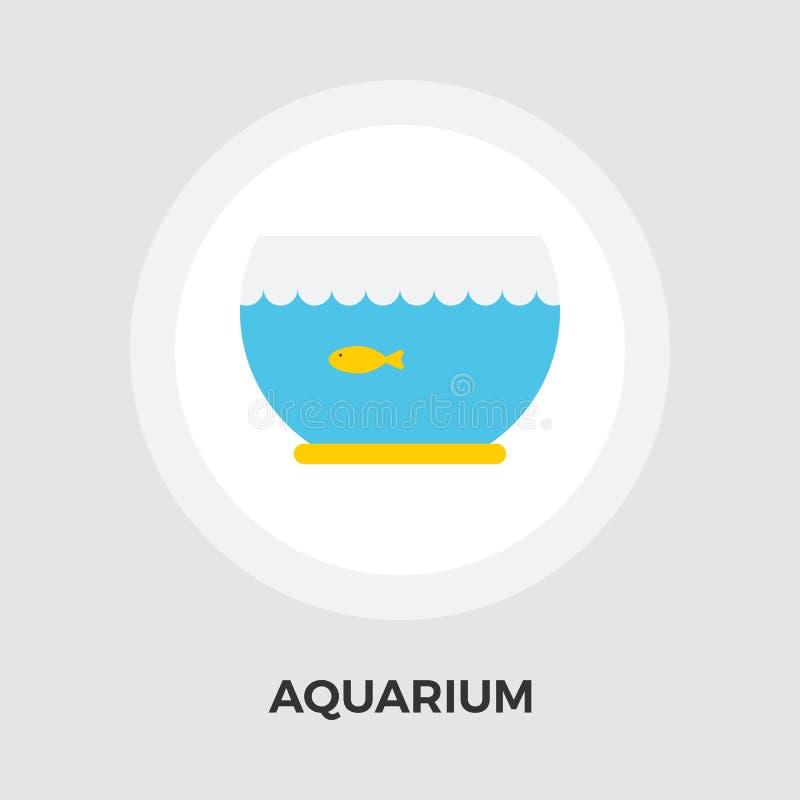Download Aquarium-Vektor-flache Ikone Vektor Abbildung - Illustration von symbol, wasser: 90225124