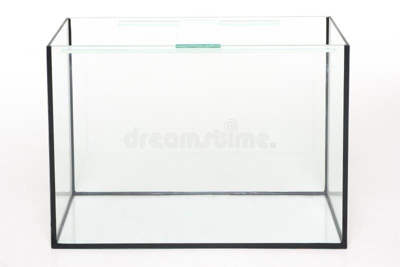 Aquariumglas, rechteckig auf einem weißen Hintergrund lizenzfreie stockfotos