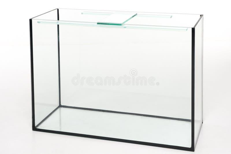 Aquariumglas, rechteckig auf einem weißen Hintergrund lizenzfreie stockfotografie