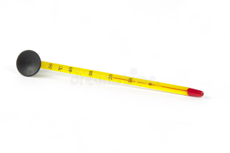 Aquariumthermometer auf Weiß stockfotografie