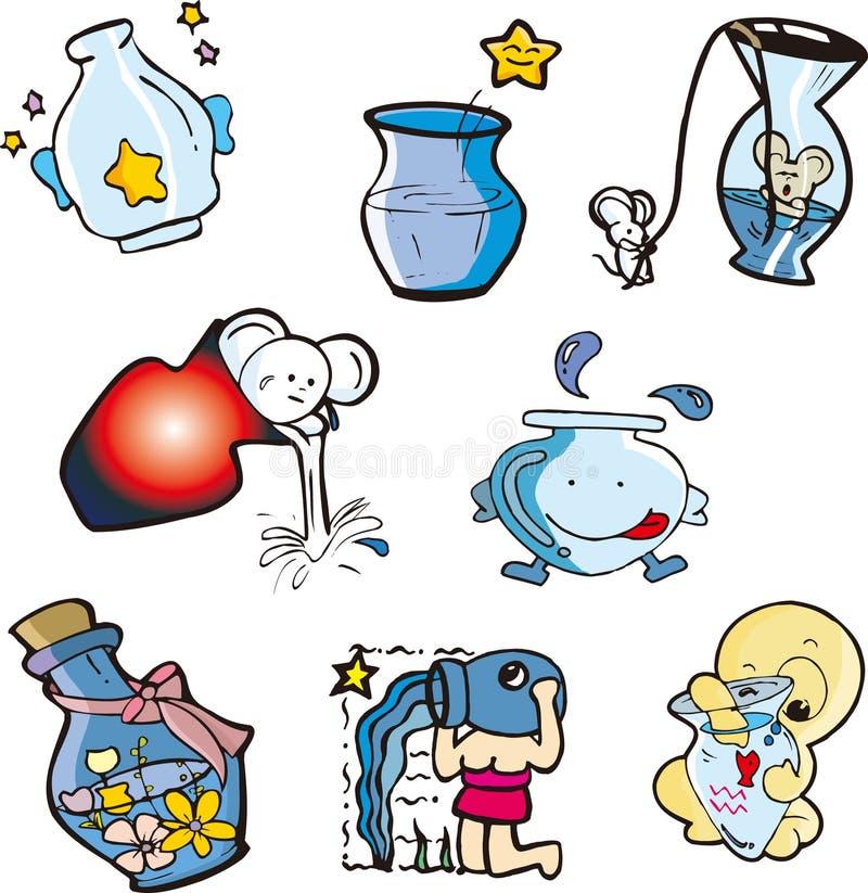 Aquarius illustrazione di stock