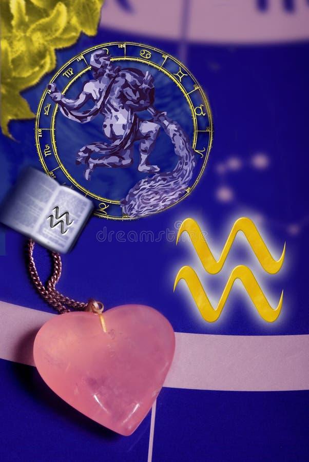 Aquarius astrologico del segno illustrazione vettoriale
