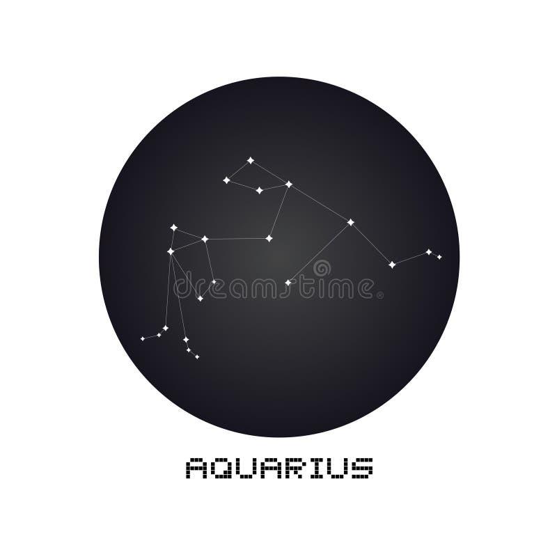 Aquarius Creative Digital Illustration Of Astrological Sign
