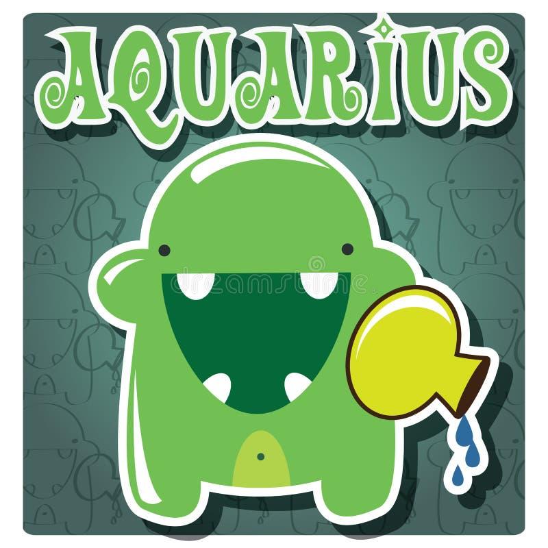 Aquarius del segno dello zodiaco royalty illustrazione gratis