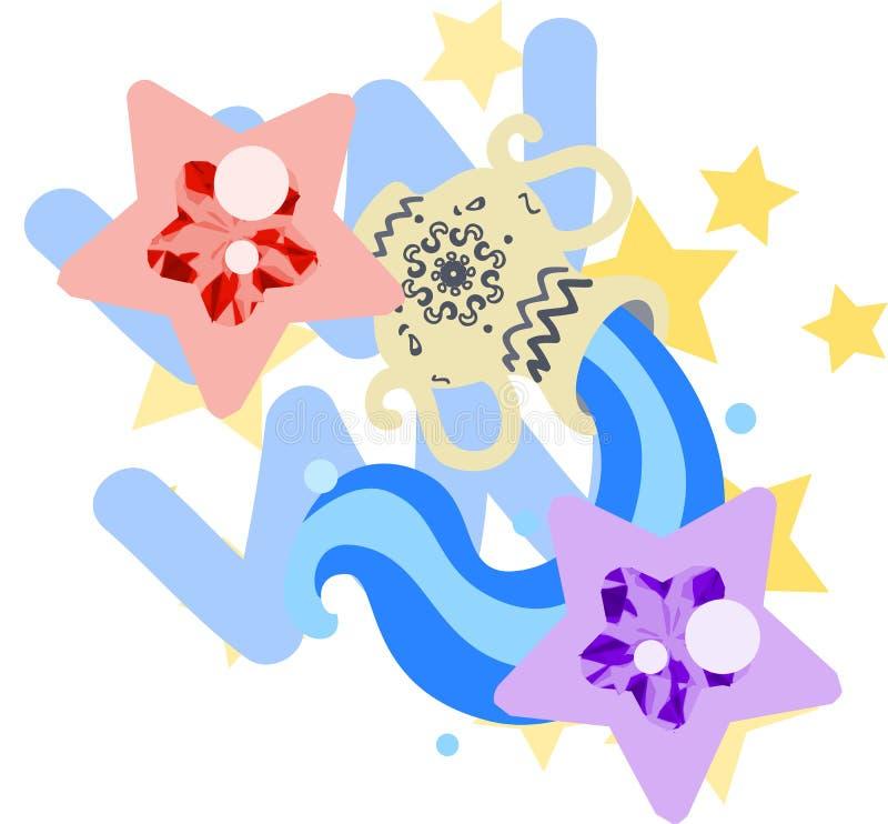 ~Aquarius~ dell'oroscopo royalty illustrazione gratis