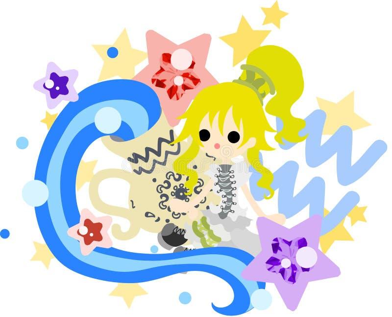 ~Aquarius~ dell'oroscopo illustrazione vettoriale