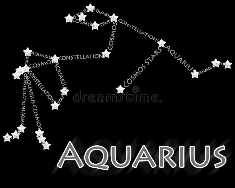 Aquarius della costellazione illustrazione vettoriale