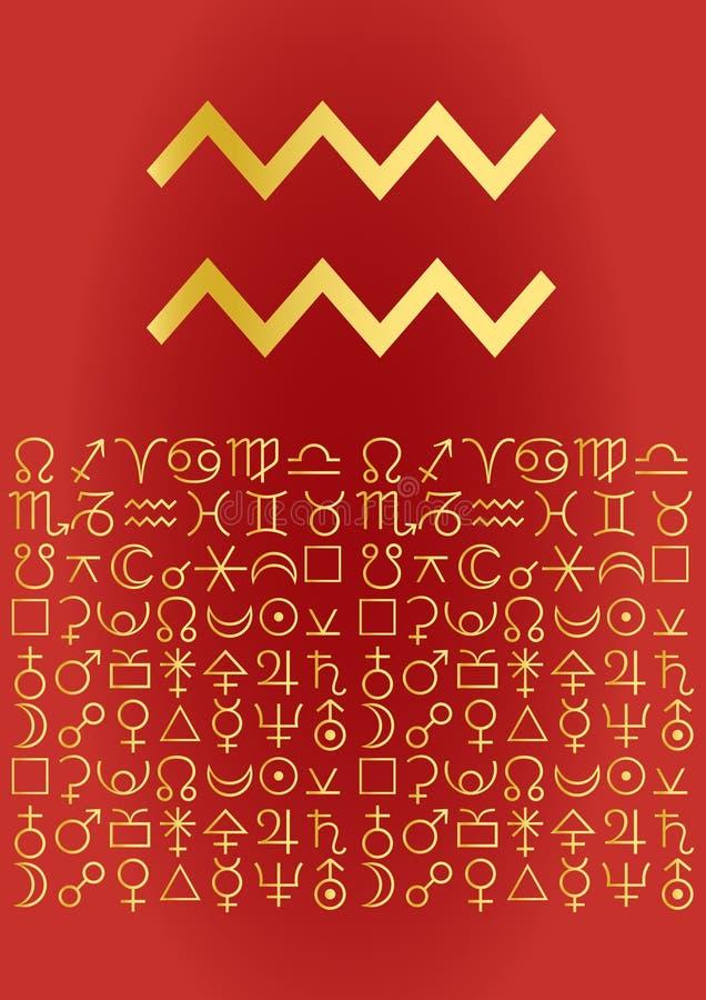 Aquarius greeting card royalty free illustration