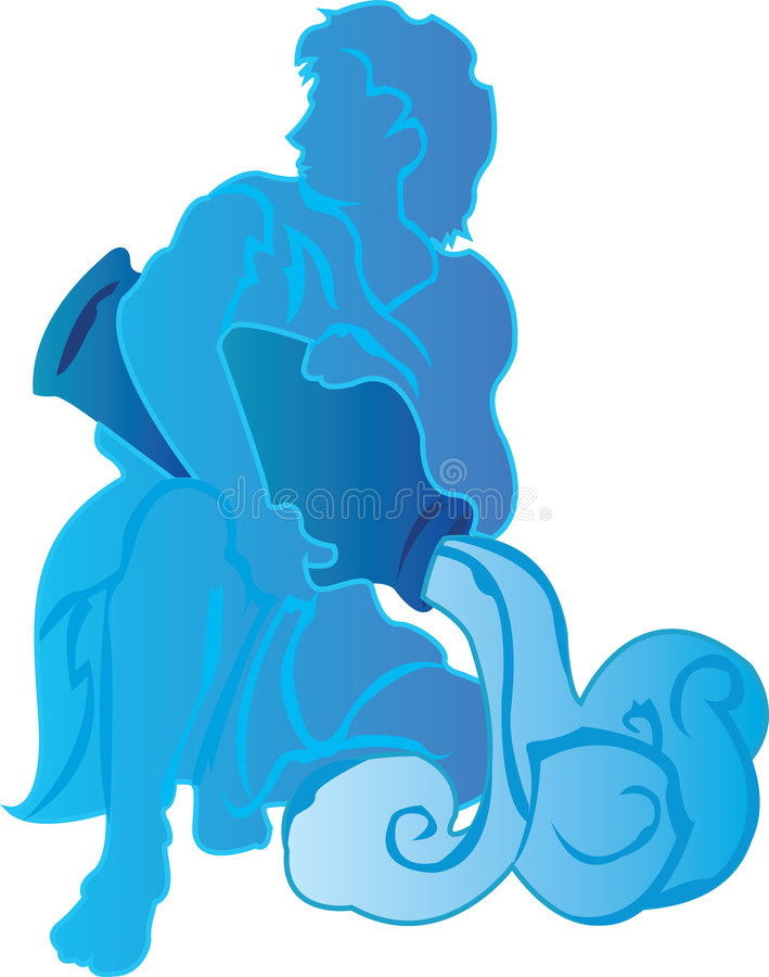 Download Aquarius Pour stock vector. Image of astrology, graphics - 3438545