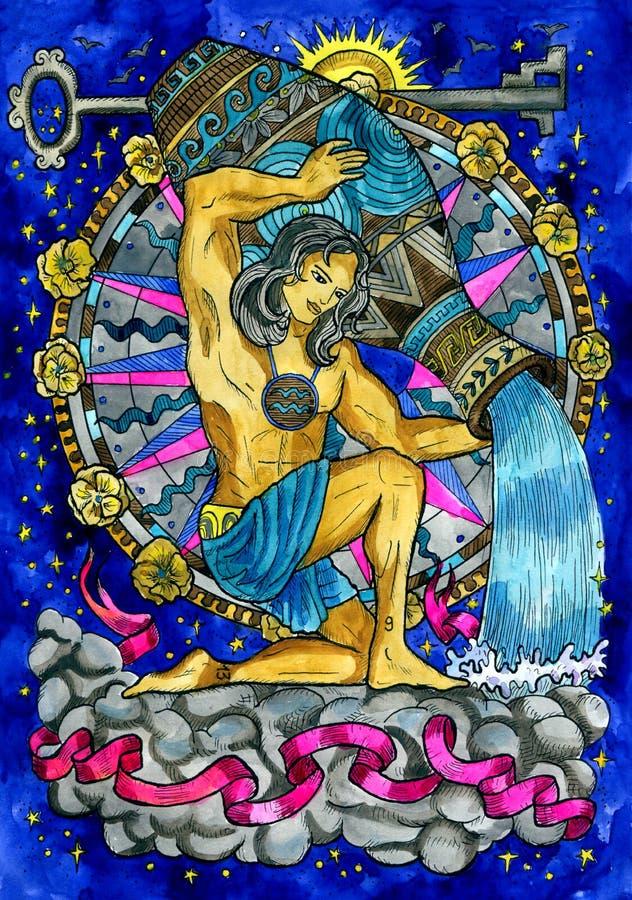 aquarius Segno dello zodiaco illustrazione vettoriale