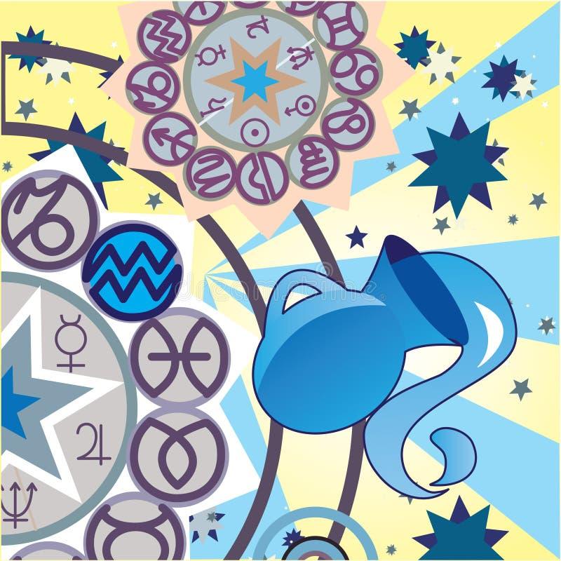 Aquarius - sinal do zodíaco do ar ilustração do vetor