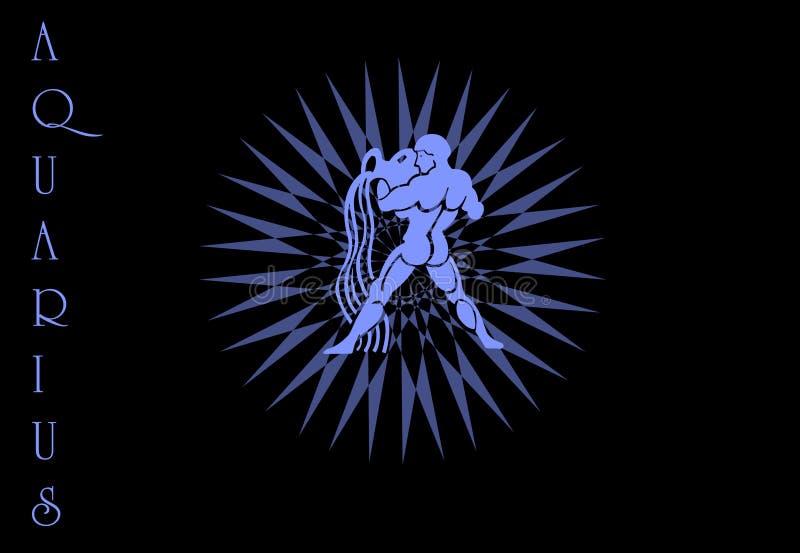 Download Aquarius Zodiac sign logo stock illustration. Illustration of astrology - 8848504