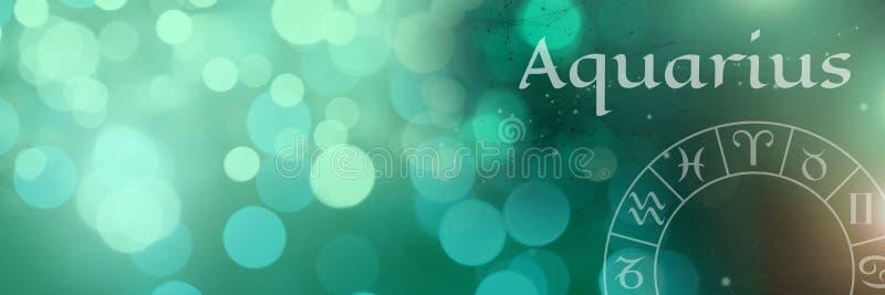 Aquarius zodiaka mistyczna astrologia ilustracji
