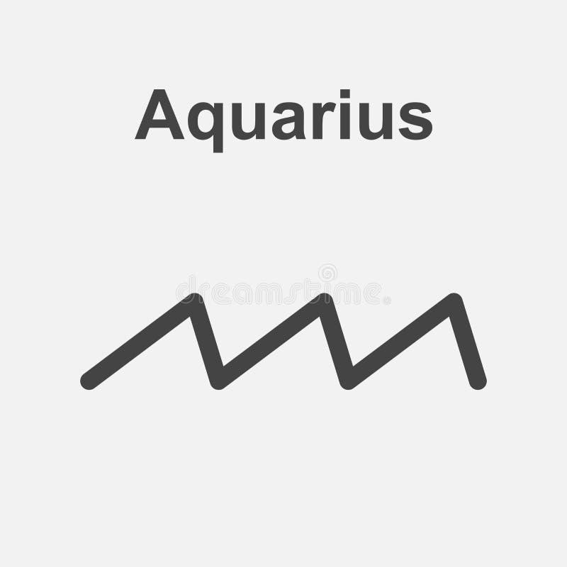 Aquarius zodiaka znak Płaskiej astrologii wektorowa ilustracja na whit ilustracji