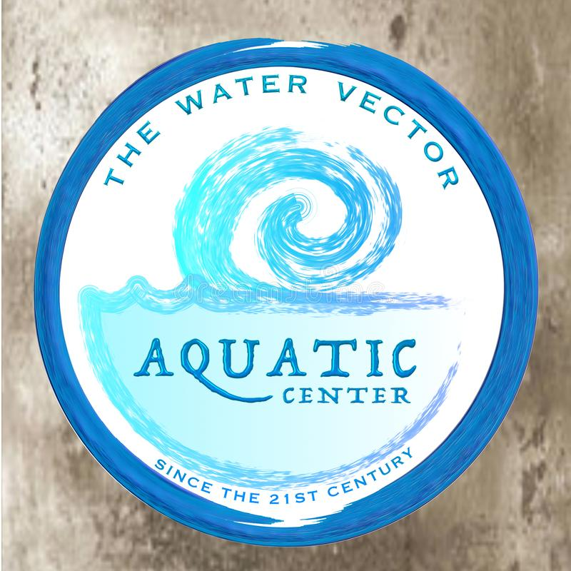 Aquatic Center - The Water Vector. The water vector with title: Aquatic Center, for various purposes royalty free stock photography