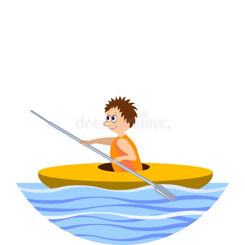 aquatics Aviron, kayaking Illustration illustration de vecteur