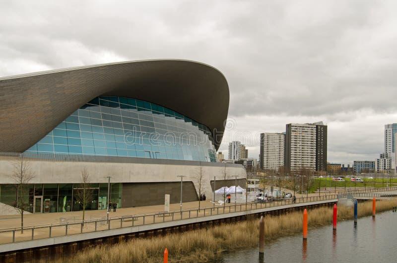 Aquatics Centre i cieśla nieruchomość, Stratford zdjęcie stock
