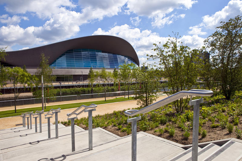 The Aquatics Centre in the Queen Elizabeth Olympic Park in London stock photos