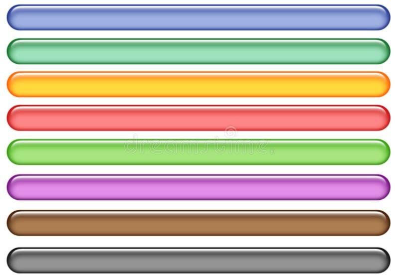 Aquaweb-Tasten vektor abbildung