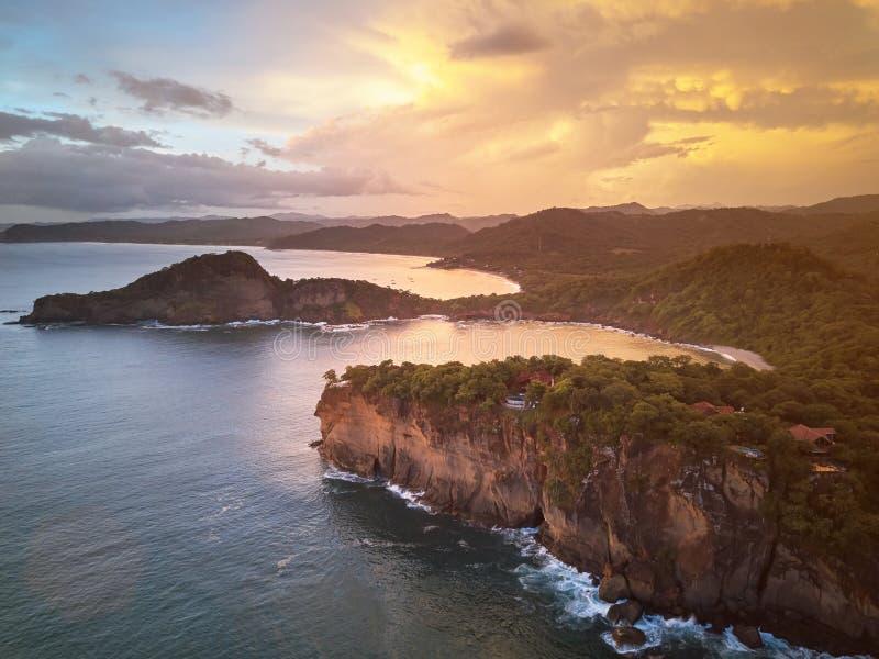 Aquawellnesstoevlucht in Nicaragua royalty-vrije stock afbeelding