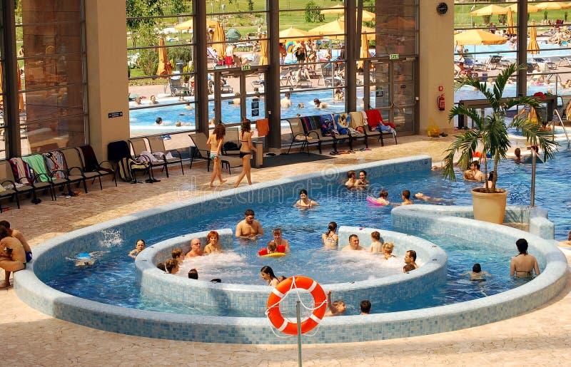 AquaWorld, piscina interior fotografía de archivo libre de regalías