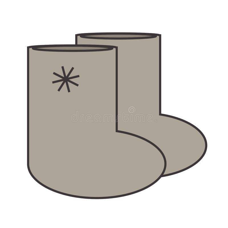 Aqueça botas de feltro ilustração do vetor