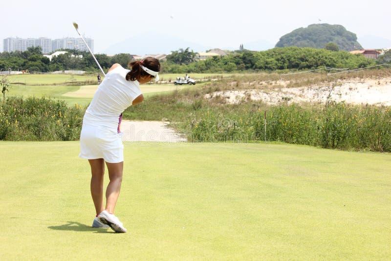 Aquece里约高尔夫球挑战-里约2016测试事件 库存图片