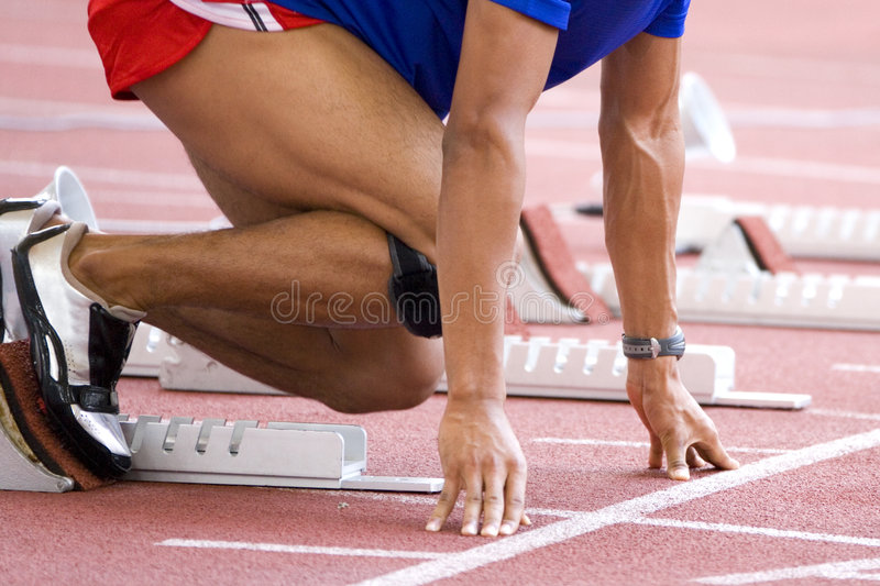 Aquecimento do atleta fotografia de stock royalty free