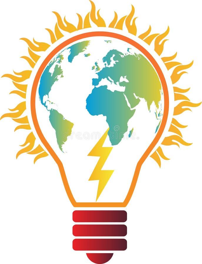 Aquecimento global da eletricidade ilustração do vetor
