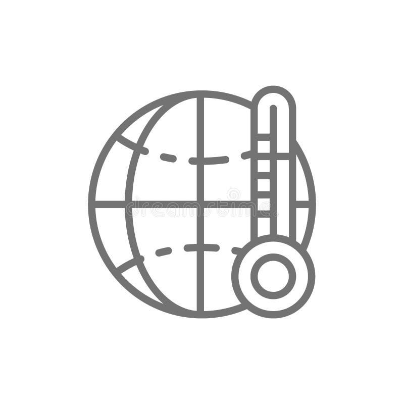 Aquecimento global, linha anormalmente de alta temperatura ícone ilustração do vetor