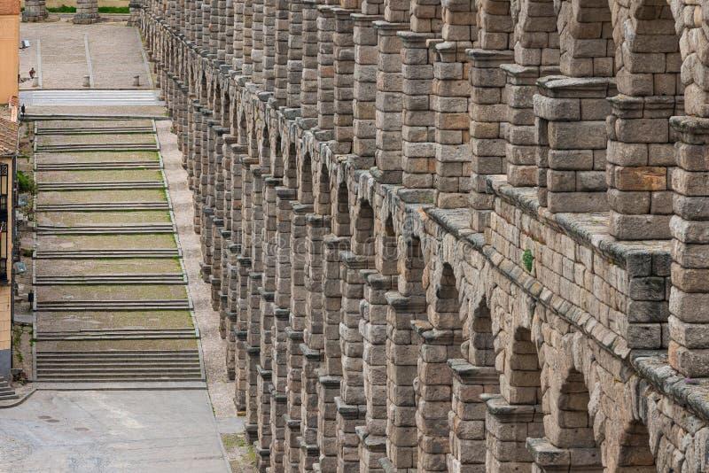 aquedotto antico a Segovia, Castiglia y Leon, Spagna immagine stock