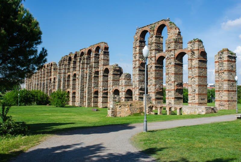 Aquedotto dei miracoli, Merida, Estremadura, Spagna immagine stock libera da diritti