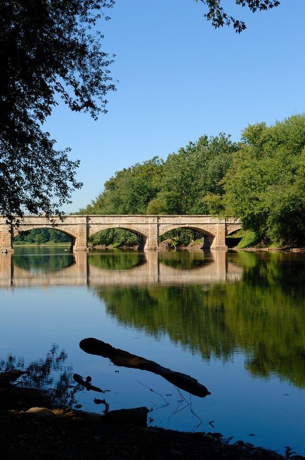 Aquedotto del fiume di Monocacy fotografia stock libera da diritti