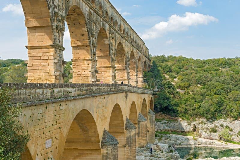 Aquedotto di Pont du Gard Roman vicino ad Avignone Francia fotografia stock libera da diritti