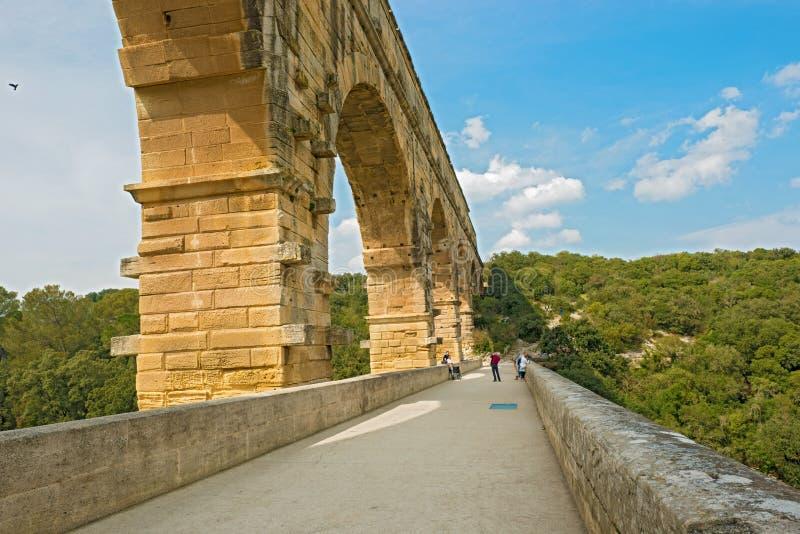Aquedotto di Pont du Gard Roman vicino ad Avignone Francia fotografie stock