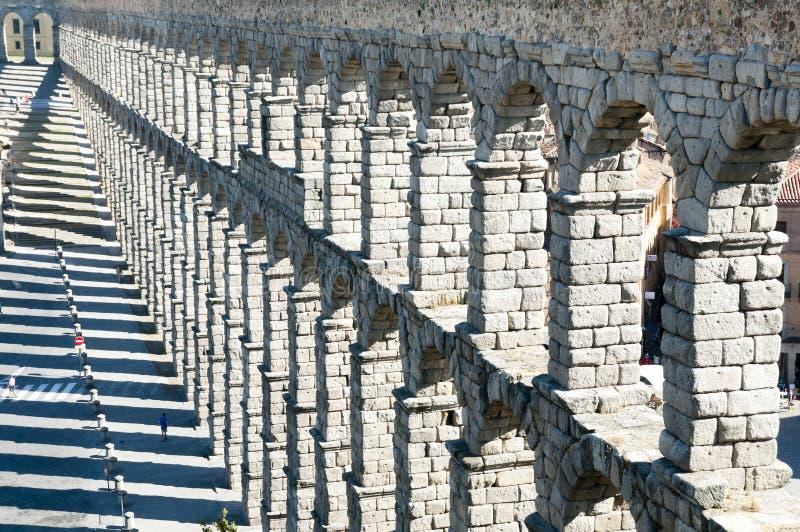Aquedotto di Segovia - la Spagna immagine stock
