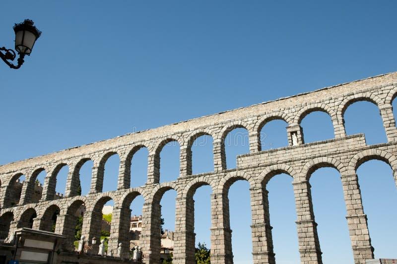 Aquedotto di Segovia - la Spagna fotografia stock libera da diritti