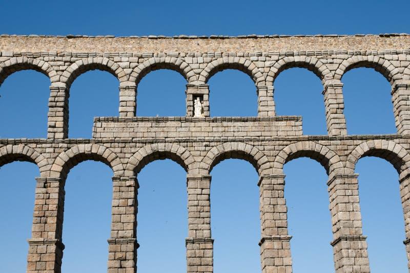 Aquedotto di Segovia - la Spagna fotografie stock