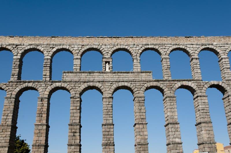 Aquedotto di Segovia - la Spagna fotografie stock libere da diritti