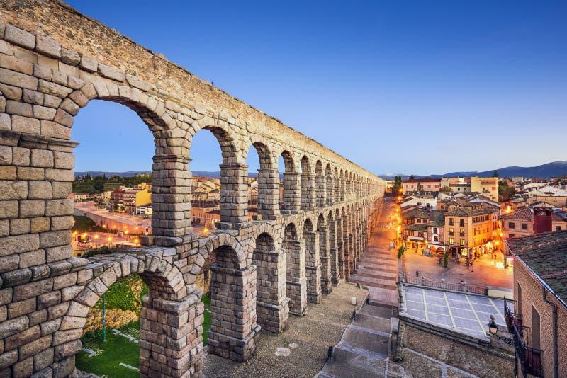Aquedotto di Segovia, Spagna immagine stock