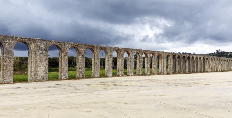 Aquedotto in Obidos Portugual fotografia stock libera da diritti