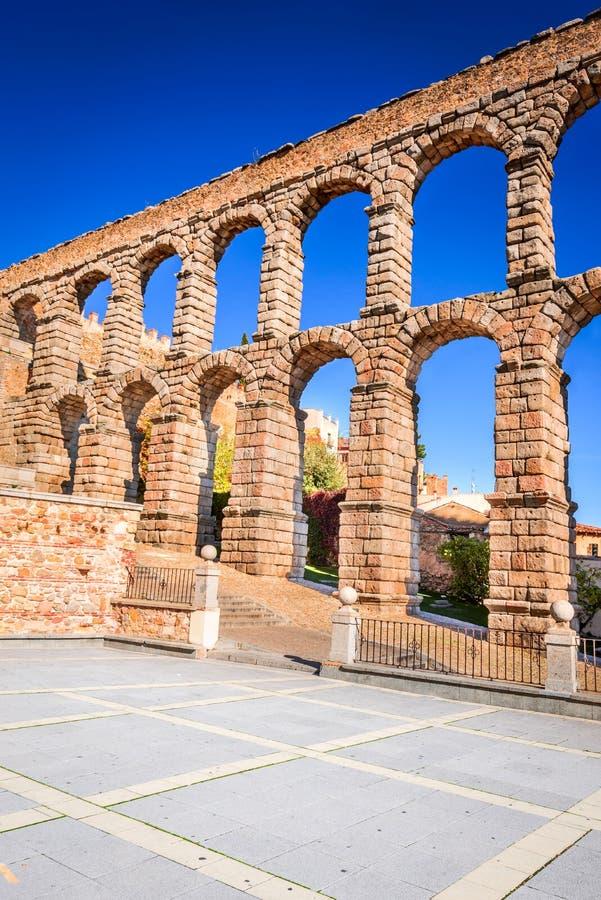 Aquedotto romano, Segovia, Spagna fotografia stock libera da diritti