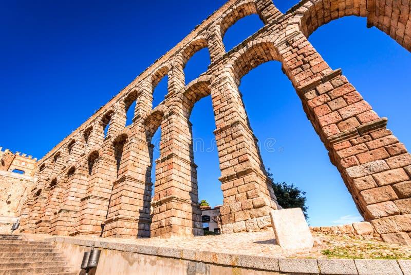 Aquedotto romano, Segovia, Spagna fotografie stock libere da diritti