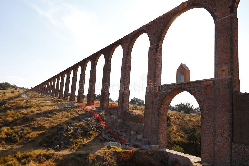 Aqueduc d'aumônier Tembleque I photos stock