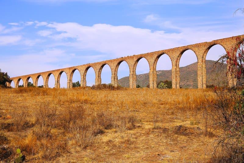 Aqueduc d'aumônier Tembleque II photo stock
