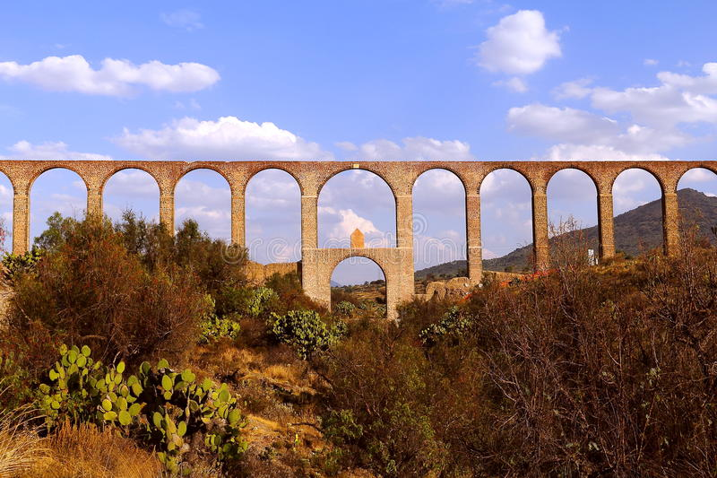 Aqueduc d'aumônier Tembleque VI images stock