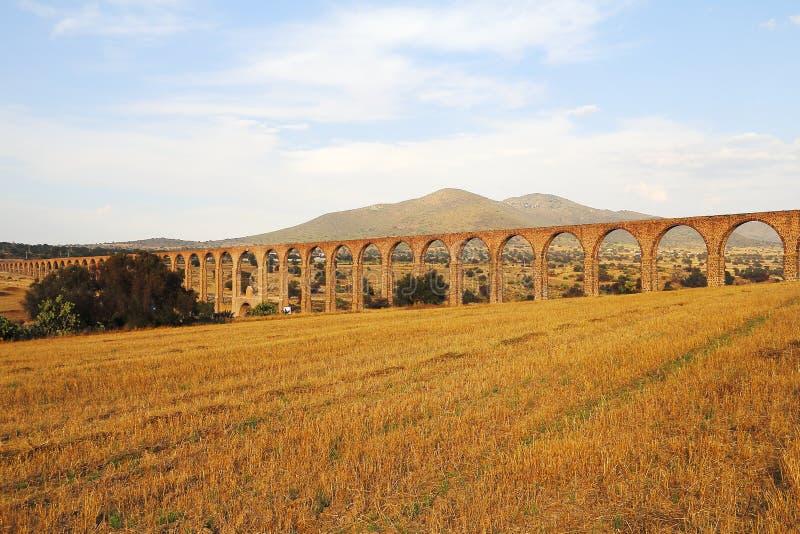 Aqueduc d'aumônier Tembleque XI images stock