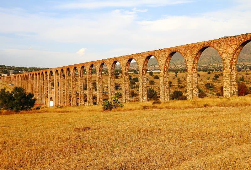 Aqueduc d'aumônier Tembleque XIII photographie stock