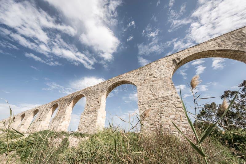 Aqueduc de Kamares, également connu sous le nom de Bekir Pasha Aqueduct Larnaca, Chypre images libres de droits